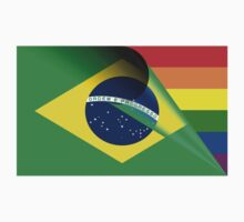 Brazilian Flag Gay Pride Rainbow by bigbadbear