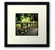 Zen Bridge Framed Print