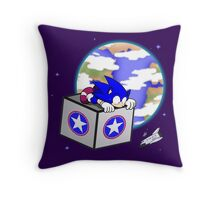 Hedgehogs in Space Throw Pillow