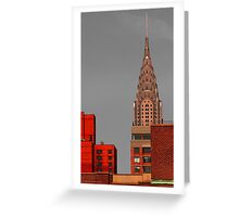 Evening Burn - Chrysler Building, New York City Greeting Card