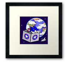 Hedgehogs in Space Framed Print