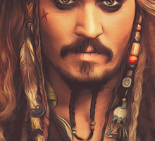 Jack Sparrow | Digital Painting  Sticker