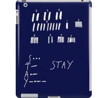 STAY - Interstellar - white iPad Case/Skin