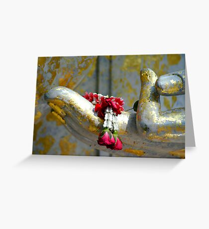 Hand And Garland Greeting Card