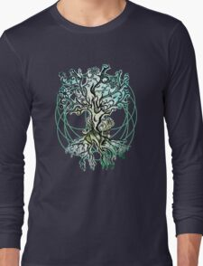 Coloured psychedelic tree Long Sleeve T-Shirt
