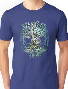 Coloured psychedelic tree Unisex T-Shirt
