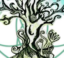 Coloured psychedelic tree Sticker