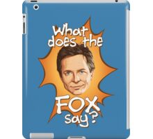 What Does The Michael J Fox Say? iPad Case/Skin