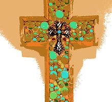 Turquoise Cross by Julio Lopez