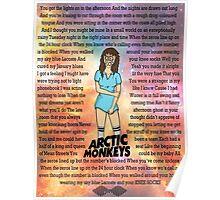 Arctic Monkeys' Knee Socks Lyrics Poster