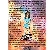 Arctic Monkeys' Knee Socks Lyrics Photographic Print