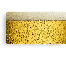 BEER bubbles and foam Canvas Print