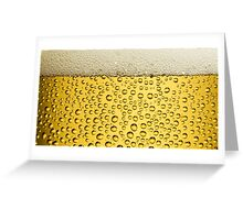 BEER bubbles and foam Greeting Card