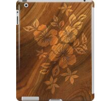 Lilikoi Hibiscus Faux Burl Wood Hawaiian Surfboard iPad Case/Skin