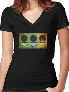 Pokemon Starter Women's Fitted V-Neck T-Shirt