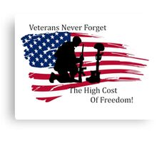 Cost of Freedom Canvas Print