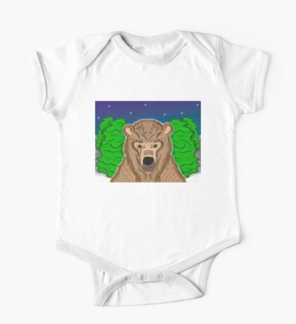Night Bear One Piece - Short Sleeve