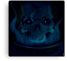 Black Flame Canvas Print