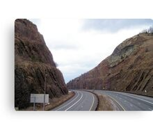 Highway Mountains Canvas Print