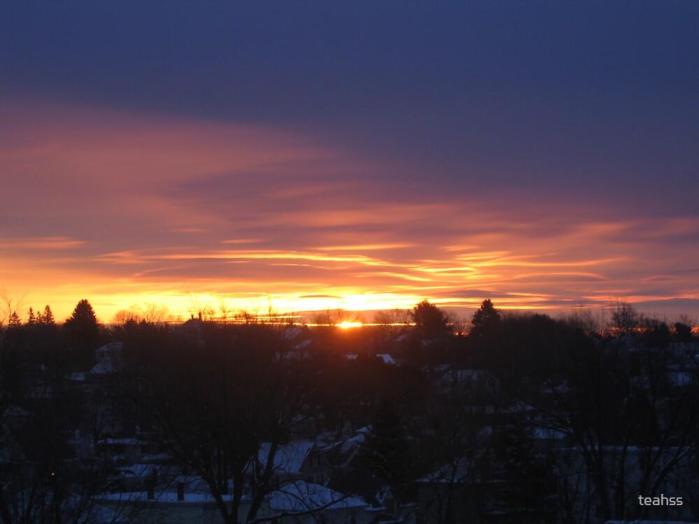 A winter Sunrise in Jan. 2006 by teahss