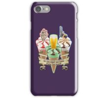 Three Flavours Cornetto Trilogy with banner iPhone Case/Skin