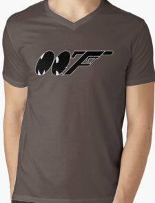 Mr. F (b) Mens V-Neck T-Shirt
