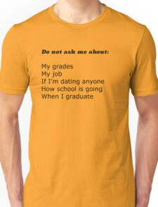 A College Student Holiday Unisex T-Shirt