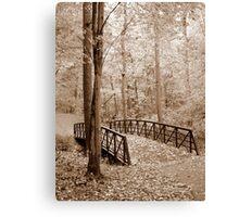 Bridge in sepia Canvas Print