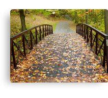 Autumn bridge Canvas Print