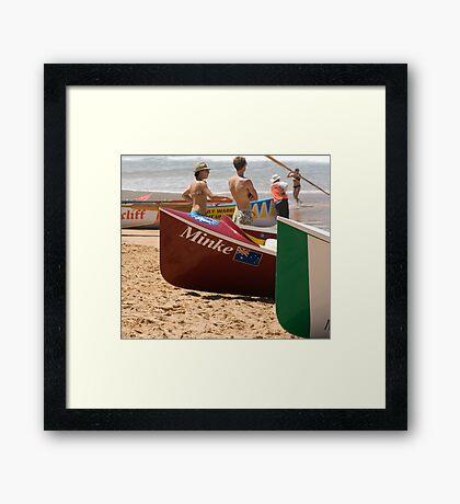 Surfboat Saturday Framed Print