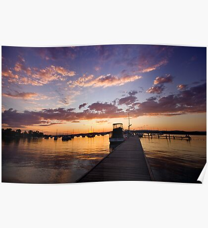 Croudace Bay Sunset 7 Poster