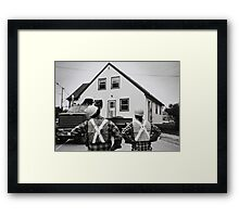 The Logistics Of Moving A House... Framed Print