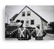 The Logistics Of Moving A House... Canvas Print