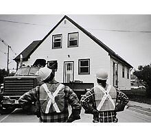 The Logistics Of Moving A House... Photographic Print