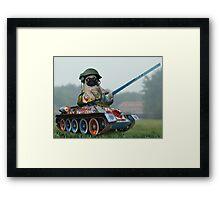 Tank Pug Framed Print