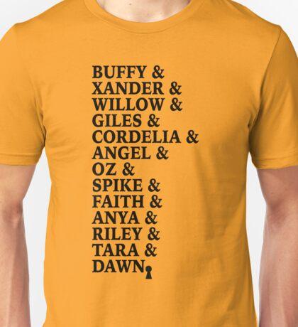 The True Buffy List Unisex T-Shirt