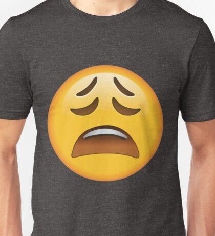 Weary Emoji Unisex T-Shirt