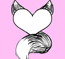 Furry at Heart (Pink) by katieblueeyes