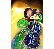 The Passionate  Cello Player Photographic Print