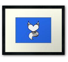Furry at Heart (Blue) Framed Print