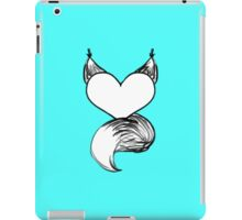 Furry at Heart (Cyan) iPad Case/Skin