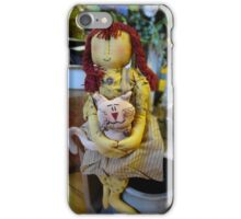 Girl doll and her cat iPhone Case/Skin