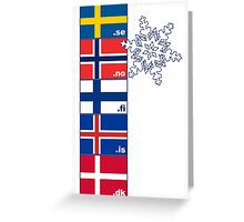Nordic Cross Flags Greeting Card