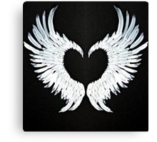 Angel wings heart Canvas Print