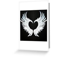 Angel wings heart Greeting Card