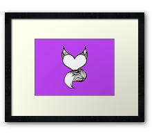 Furry at Heart (Orchid) Framed Print
