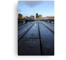 Vancouver - Granville Island Pier Canvas Print