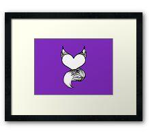 Furry at Heart (Purple) Framed Print