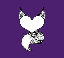 Furry at Heart (Dark Purple) by katieblueeyes