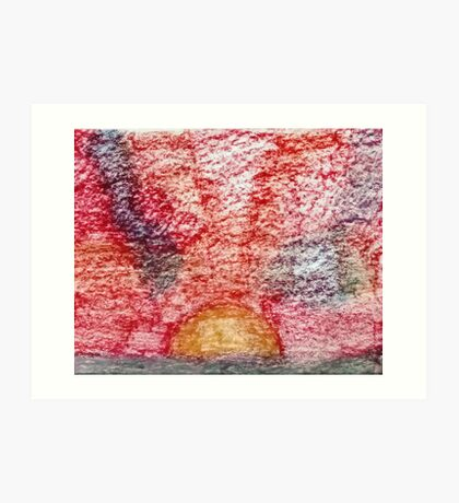 Sunset Unpainted Pastel Art Print